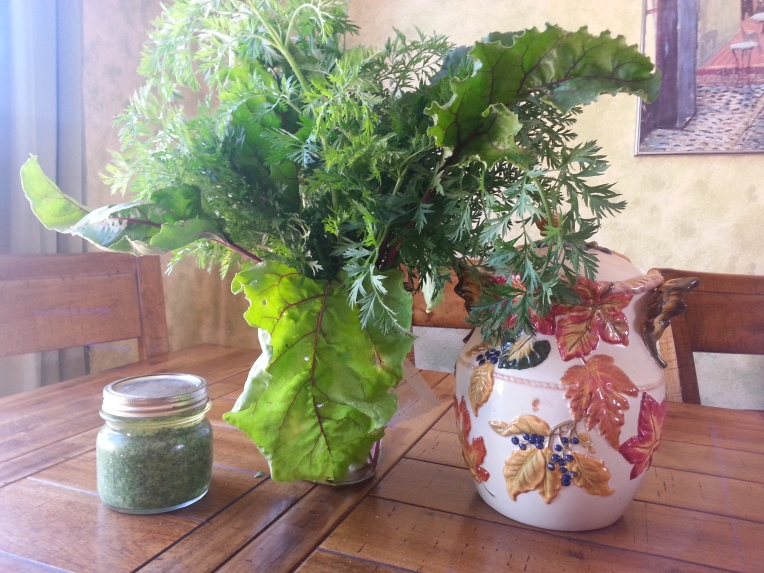 Dill and Beet Arrangement